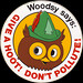 Woodsy Owl Sticker - 1970s - Give a Hoot - head shot