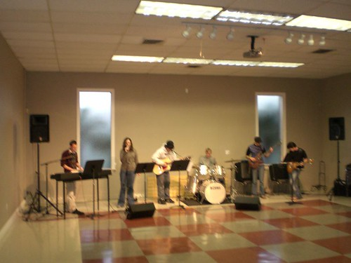 Band playing to empty room
