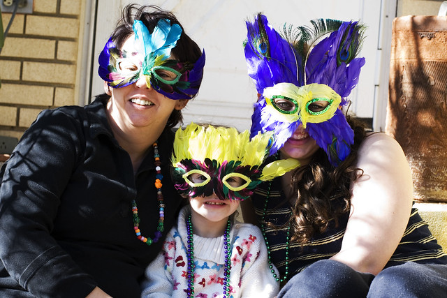 Parents and Kids Mardi Gras 2014 Masks Ideas, Pictures, Images, Photos