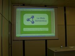 La primera página de mi charla, sobre web semántica