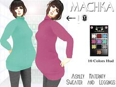 ~ϻ:Ashley Maternity Sweater 10 Colors Hud and Leggings