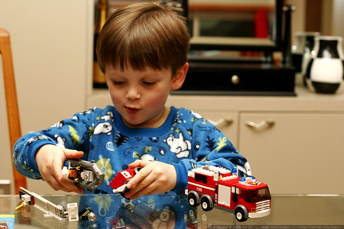 nick and the lego firetruck    MG 8070
