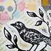 Detail of bird collage
