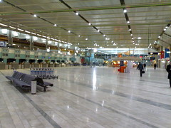empty international departures hall at Landvetter
