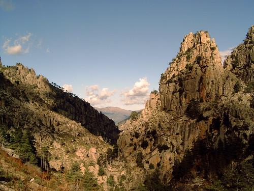 Montagne et rocher en Corse