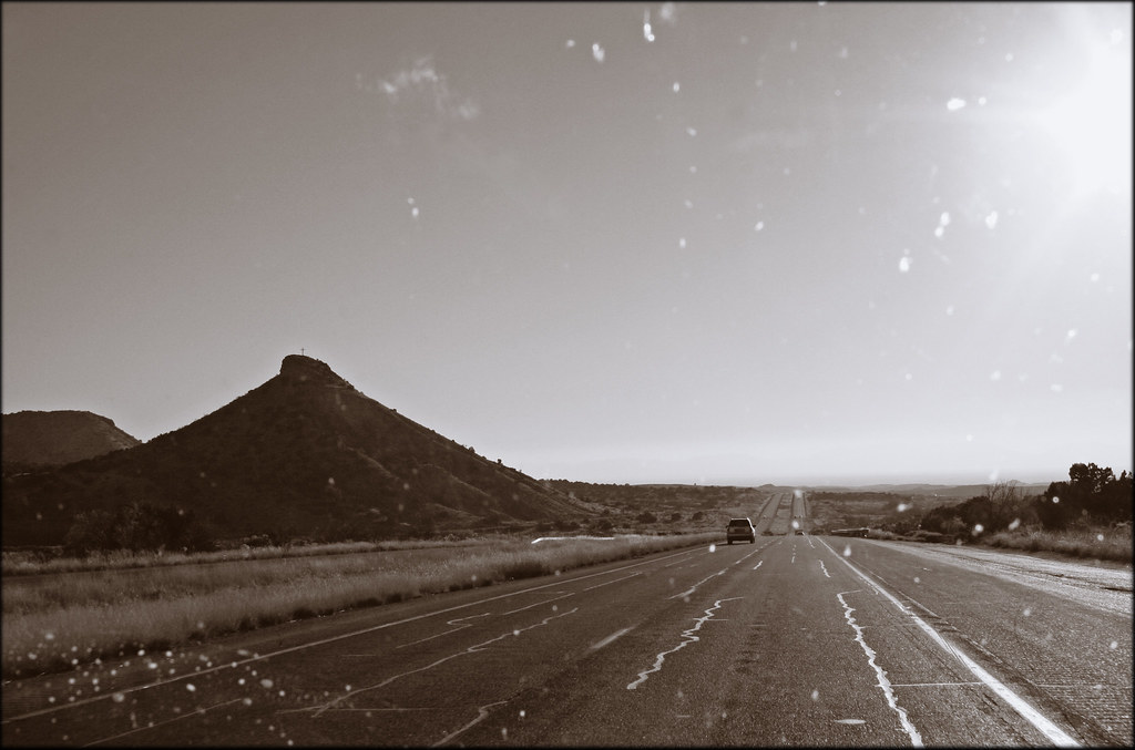 Somewhere in New Mexico: Through a Dirty Windshield