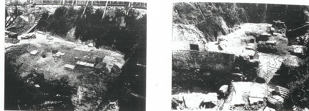 Rome - The Forum of Nerva and Via dell' Impero (1926-1928): View of Prof. A. M. Colini's excavations in the F. of Nerva and the Medieval Domus, later re-excavated in 1995-97.