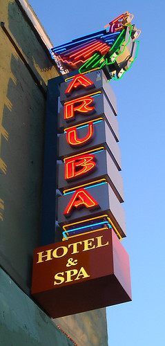 Aruba Motel Sign