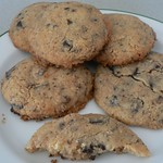 Ginger choc chip cookies