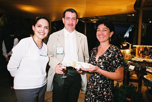 Maria Paula Matiz (Colombia), Mario Espinosa Ricalde (Mexico) and Paulina Soto Labbé (Chile) at the second World Summit on Arts & Culture, Singapore, November 2003