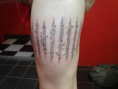 thai tradition tattoo (Dejavu Tattoo Studio Chiangmai Thailand)