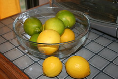 Lime and lemon, Limes and Lemons from our garden