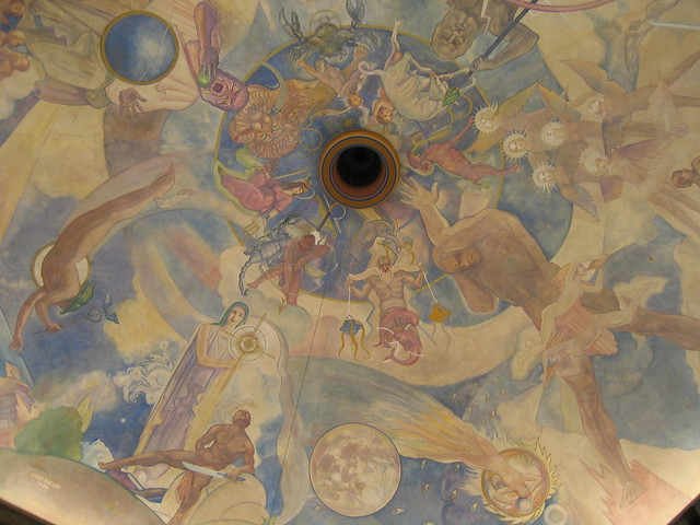 Ceiling mural the hugo ballin ceiling mural celebrat for Constellation ceiling mural
