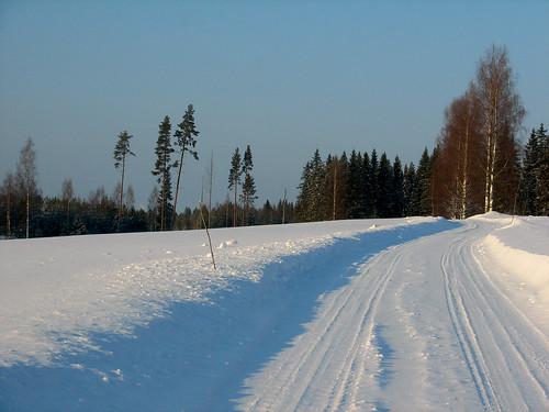 road winter snow penttilänmäki