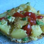Blitzgescheit Torte – Kartoffel-Ei-Omelett mit Erbsen