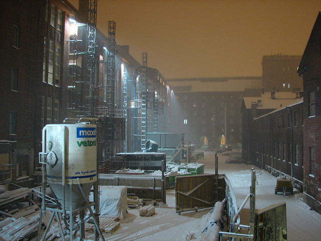 Noche de invierno en Helsinki