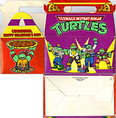"MELLO SMELLO :: ""TEENAGE MUTANT NINJA TURTLES"" Valentine Kit .. box i (( 1994 ))"
