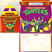 "MELLO SMELLO :: ""TEENAGE MUTANT NINJA TURTLES"" Valentine Kit .. ""POP-UP"" tote box i (( 1994 ))"