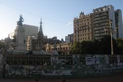 Barreras en la Plaza de Los Dos Congresos