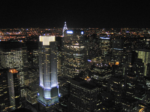 new york nyc travel building night landscape view manhattan chrystler