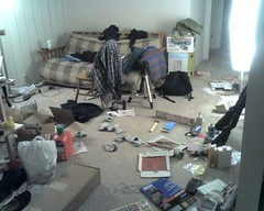 photo of a messy room