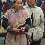 Man and Woman Buying Incense  - Bac Ha, Vietnam