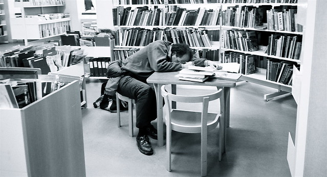 Sleeping at the library