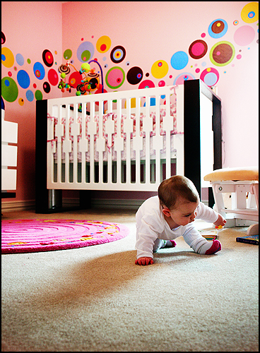 Modern Nursery Design with Circle Dot Decals nursery design trends tips ideas advice most top best of 2015 year popular stylish in style