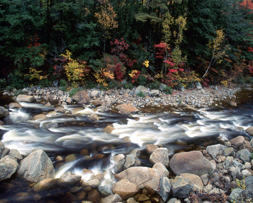 Whitewater Mad River In The White Mountains Of New