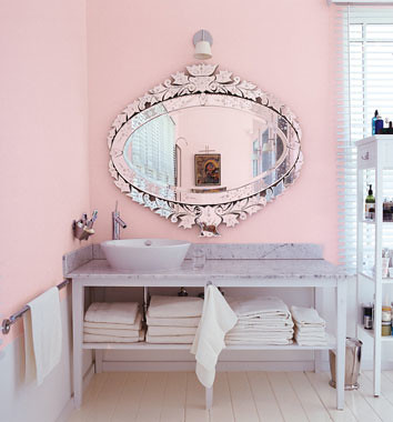 soothing bathroom with punch