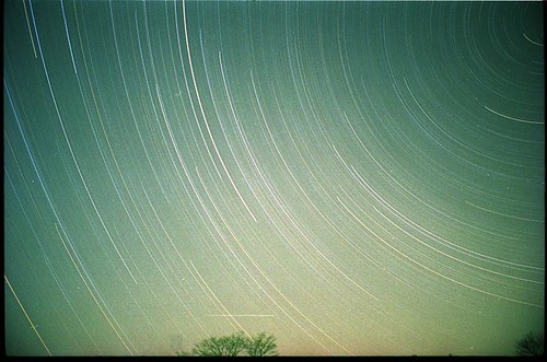 long star trails