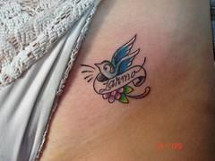 small bird tattoo (Dejavu Tattoo Studio Chiangmai Thailand)