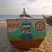 Colourful Fishing Boat at Palolem Beach, Goa India