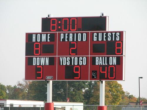 tied score board