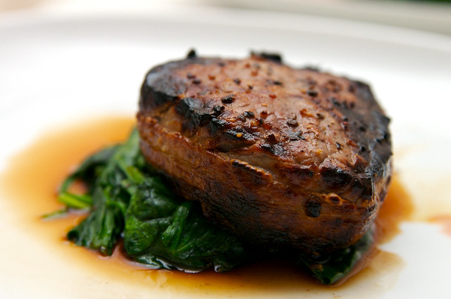 Valentine's Dinner - Filet Mignon with Bacon | Flickr ...