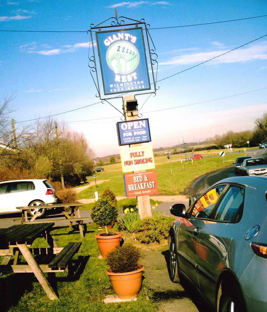 Even Giants Rest after Giant Steps! Lunch stop Wilmington, prior to ascending the South Downs. D.Allen Vivitar 5mp