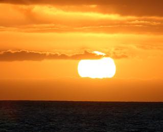 Image of Playa de Fañabe near Playa de las Américas. sunset sun evening tenerife canaryislands hisgett fanabebeach