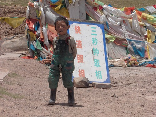 china travel expedition kids tibet qinghai tanggula bike2005