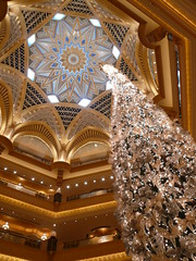 Christmas cypress at the Emirates Palace Hotel