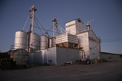 building, silo, industry, factory,