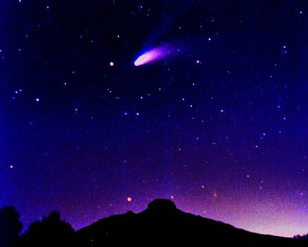 Comet Hale-Bopp and Pilot Mountain