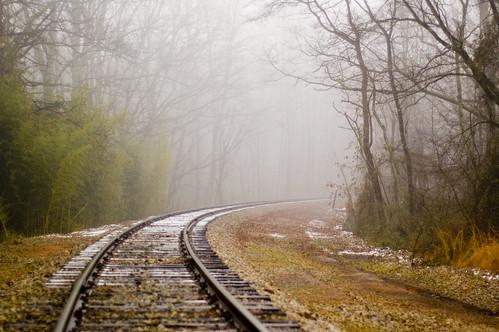 railroad fog geotagged tracks faa flickrart panoramio nikonstunninggallery 500px geo:lat=34942026 geo:lon=82122202 fineartamerica