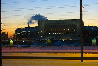 Billede af Tauno Palo. winter evening helsinki parliament parliamenthouse eduskuntatalo