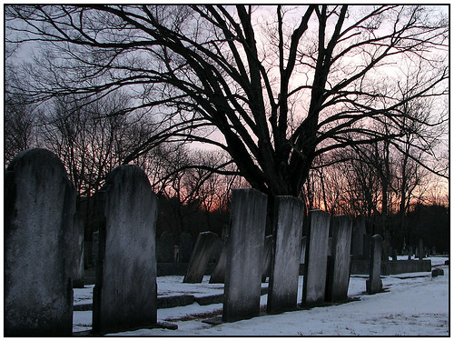 Old Graveyard at Sunset
