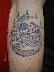 thai tradition tattoo hanuman (Dejavu Tattoo Studio Chiangmai Thailand)