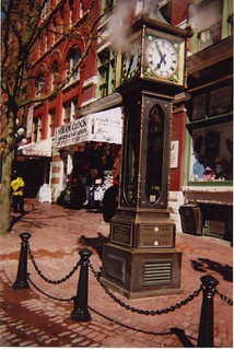 Image of Gastown Steam Clock near West End. vancouver