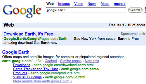 google earth - Google Search (20070223)   See Promoting Goog…   Flickr
