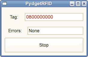 PydgetRFID: GUI