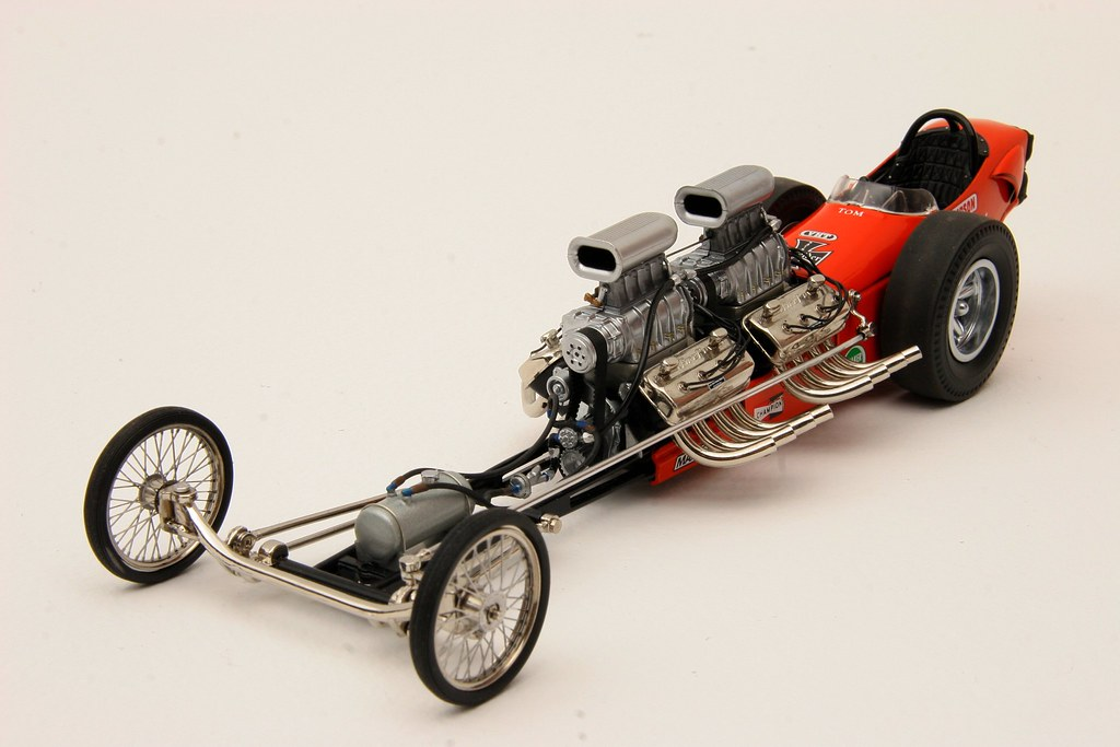 Twin-Engine gas dragster 1/18th scale.