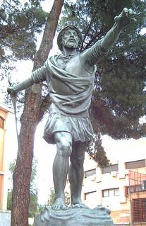 Afbeelding van Vasco Núñez de Balboa. madrid españa bronze spain europa europe esculturas statues estatuas sculptures conquistadores bronce sculpturesinmadrid vasconúñezdebalboa enriquepérezcomendador
